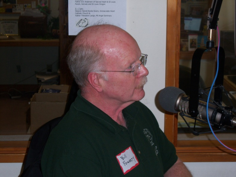 Bill Fogarty on air at KBVM