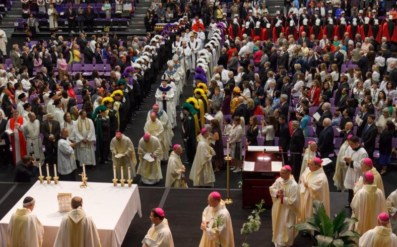 Entrance Procession Bishops 1 AKS install 2Apr13