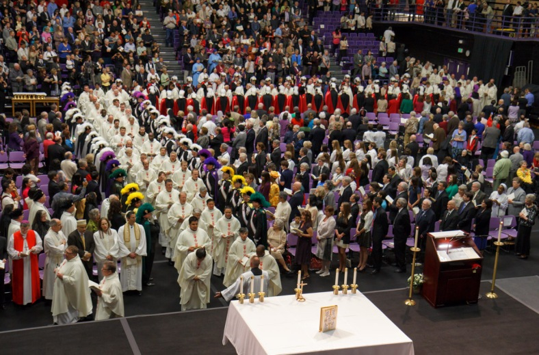 Entrance Procession Priests 2 AKS install 2Apr13