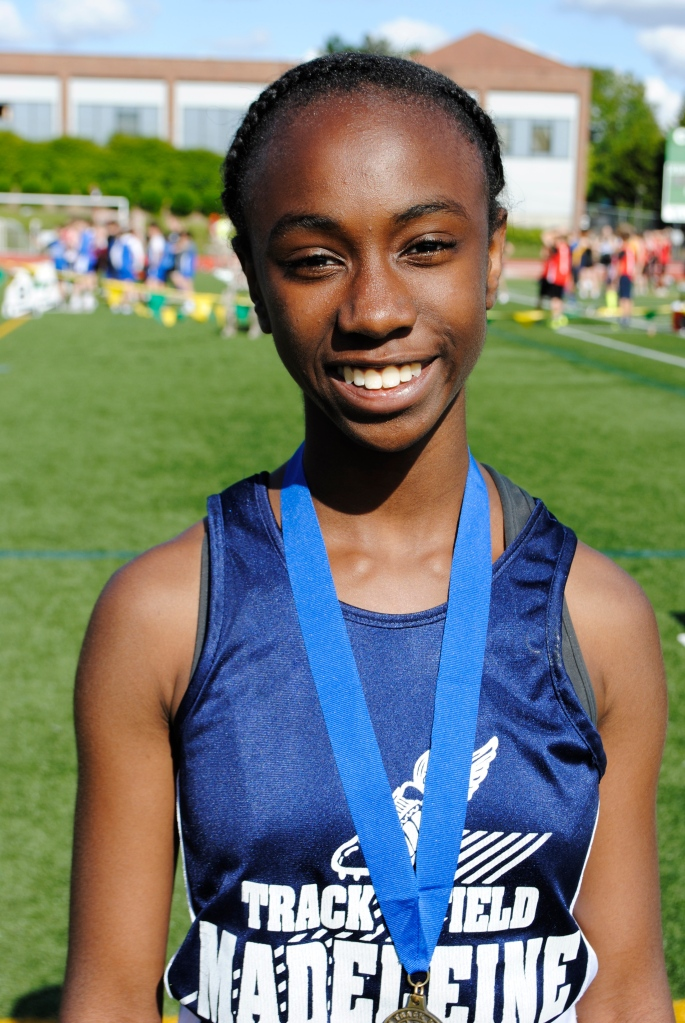 100 Yard Dash Cadet Girls Malika Washington