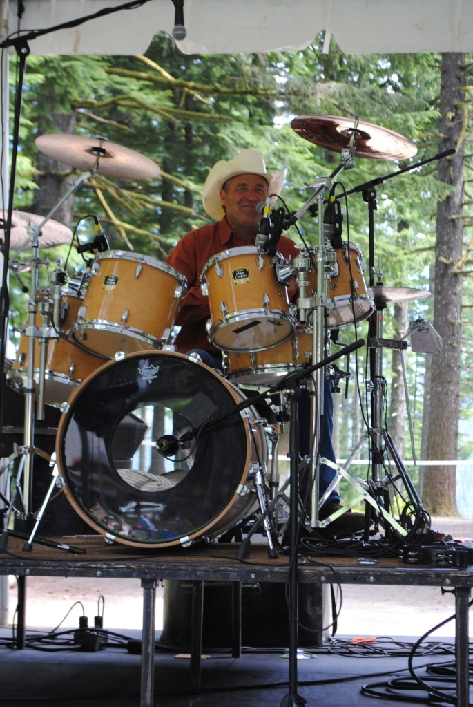 Fon Mobley, Drummer and singer with his band Countrified at Camp Howard