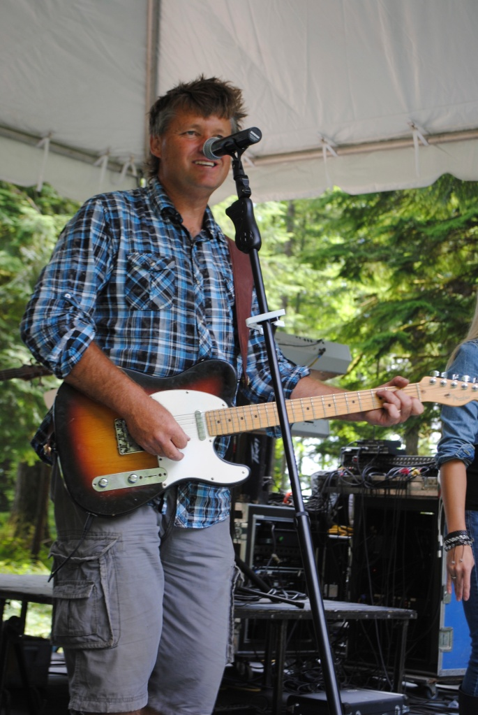 Lead Singer, Mark Mobley with his band Countrified at Camp Howard