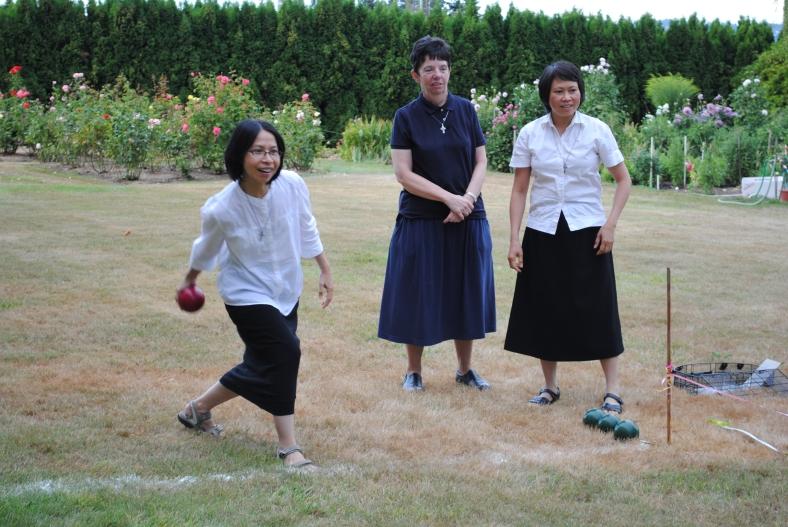 Sister Julie competes