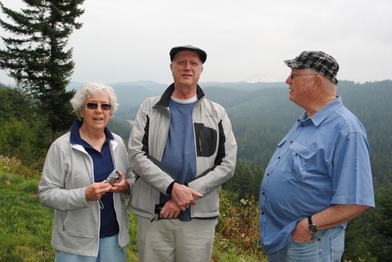 L to R: Jean, Fr. Leo Remmington, Fr. Kroll