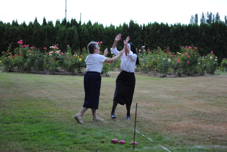 Sister Maryann and Sister John Therese win another game