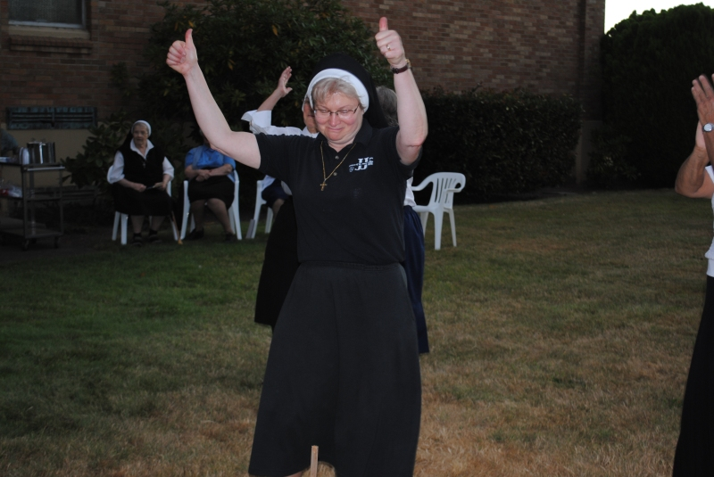 Sister Michael Francine showing some enthusiasm