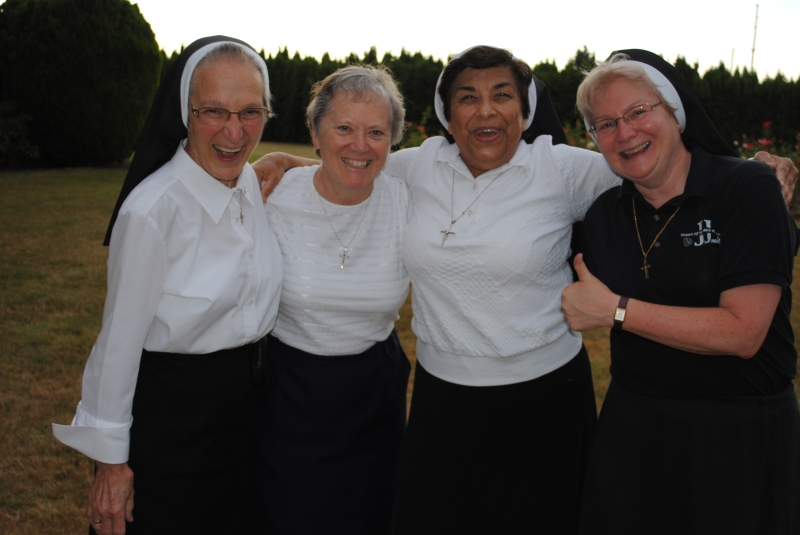 Finals teams best two out of three Sister John Therese and team mate Sr. Maryann Giesel vs Sister Juanita and Sister Michael Francine