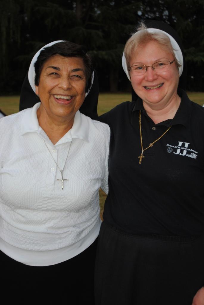 2013 Bocce Ball Champions Sister Juanita and Sister Michael Francine!