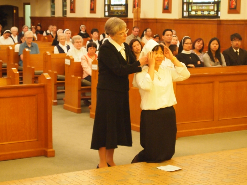 Sister Anna Nguyen receives her veil