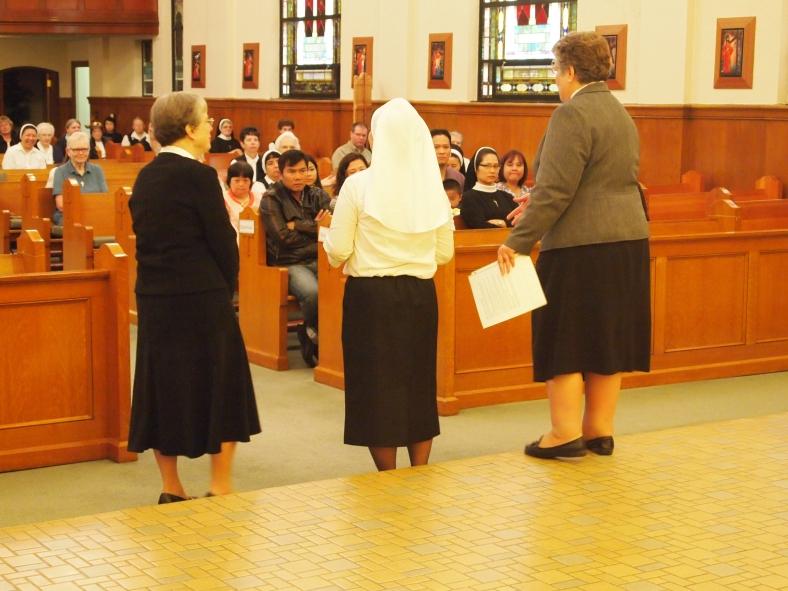 Sister Joyce Barsotti, Sister Anna Nguyen and Sister Charlene.