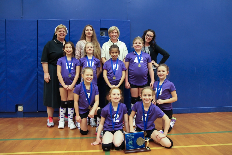"""Third Grade CYO Volleyball Champions - St. Francis, Roy and Visitation Verboor """"The Fighting Dutch"""""""
