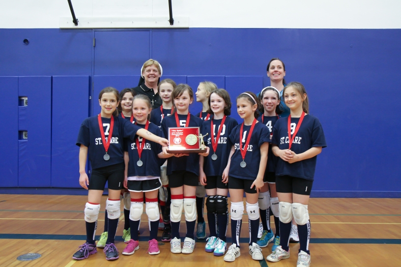 Third Grade CYO Volleyball Second Place St. Clare