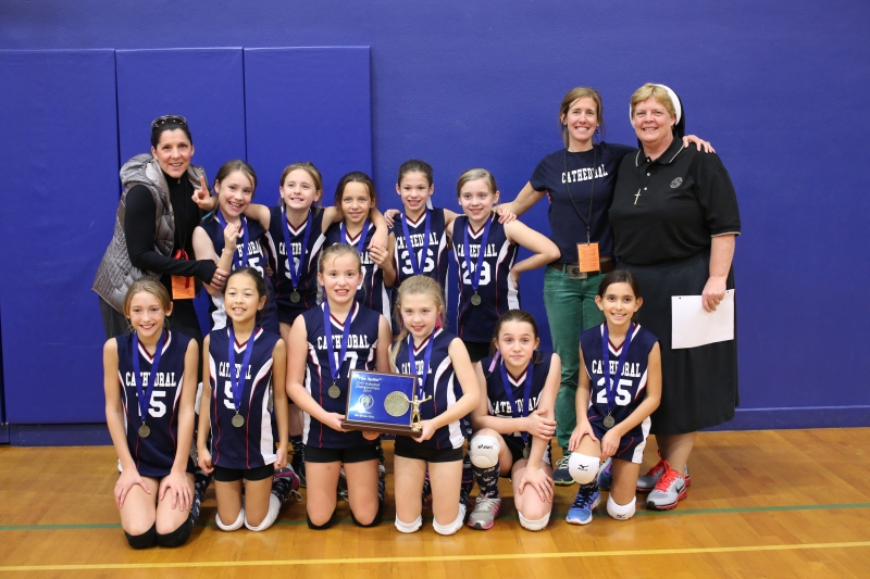 Fourth Grade CYO Volleyball Champions Cathedral School