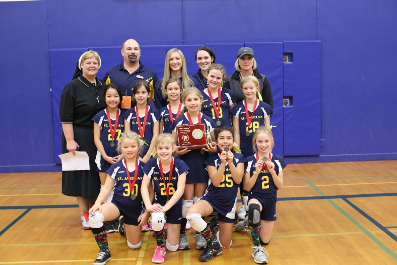 Third Grade CYO Volleyball Second Place St. Anthony