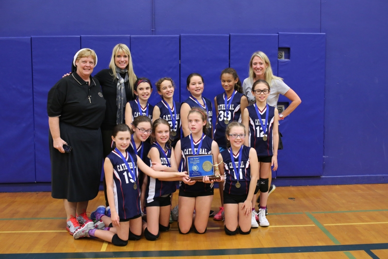 Fifth Grade CYO Volleyball Champions The Cathedral School
