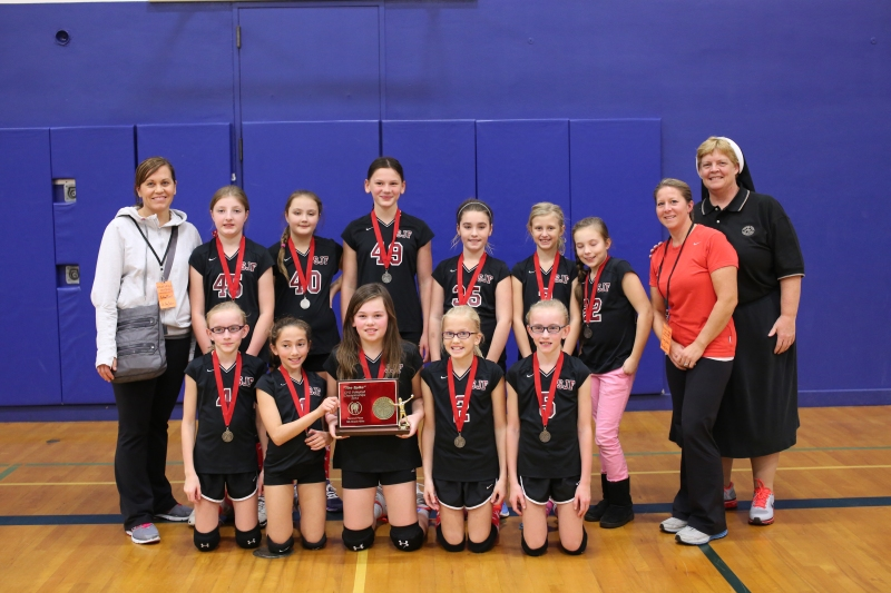 Fifth Grade CYO Volleyball Second Place St. John Fisher