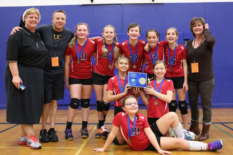 Sixth Grade CYO Volleyball Champions St. Agatha