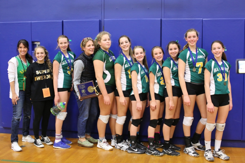 Seventh Grade CYO Volleyball Champions All Saints