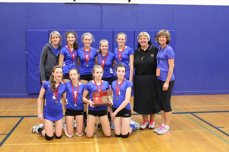 Seventh Grade CYO Volleyball Second Place St. Cecilia