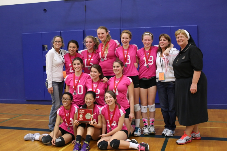 Eighth Grade CYO Volleyball Second Place Christ the King