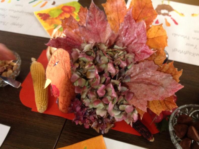 A Thanksgiving decoration