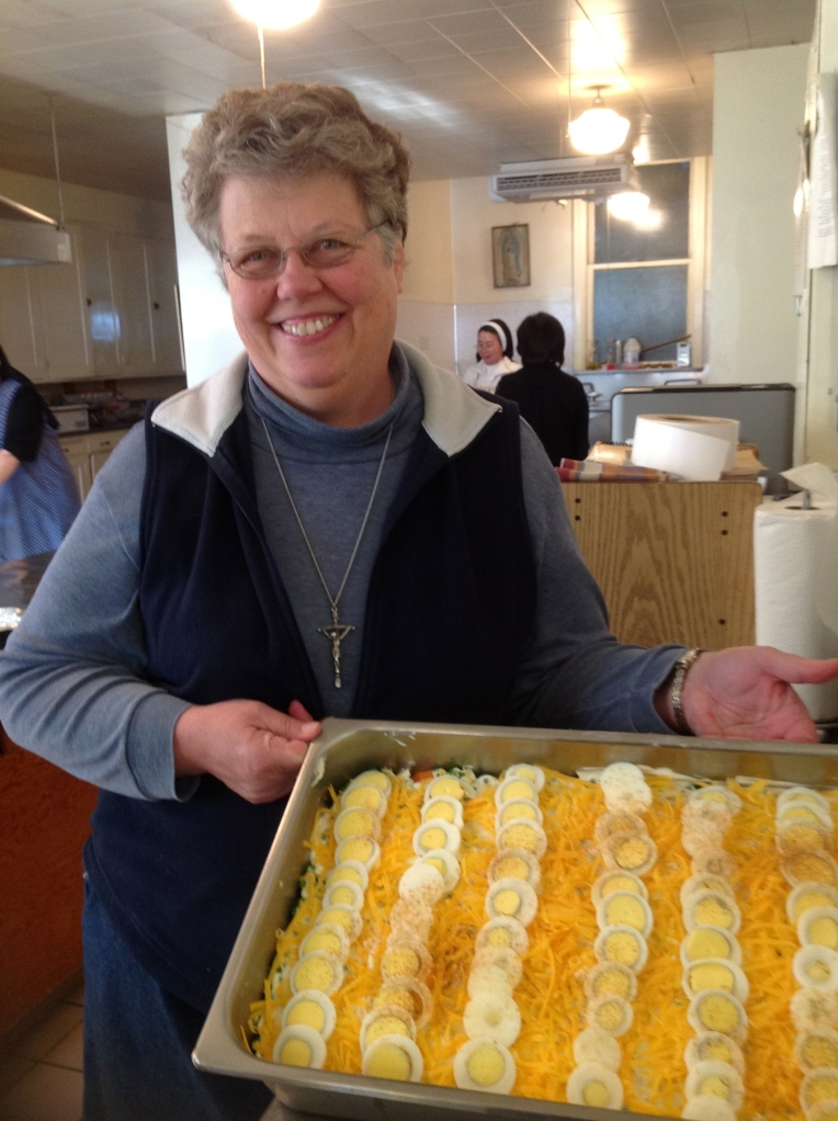 Sister Charlene Herinckx and her famous 7 layer salad!