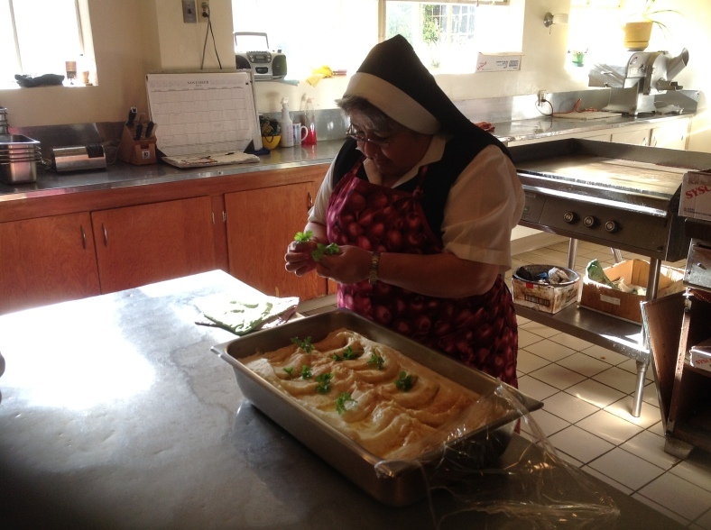 Sr. Francesca Cuna made the mashed potatoes!