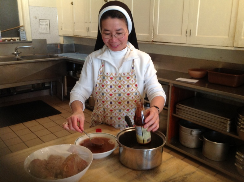 Sister Theresa Lan and her famous dishes from Vietnam!