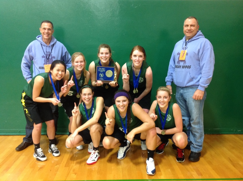 Jesuit High School Girls CYO HS Championship team 1st place