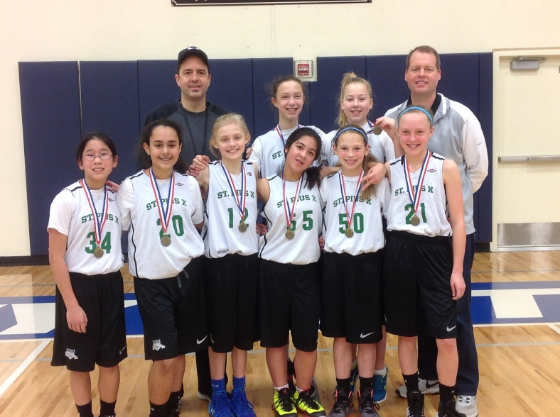 St. Pius X 6th Grade girls take 5th in the CYO City championships