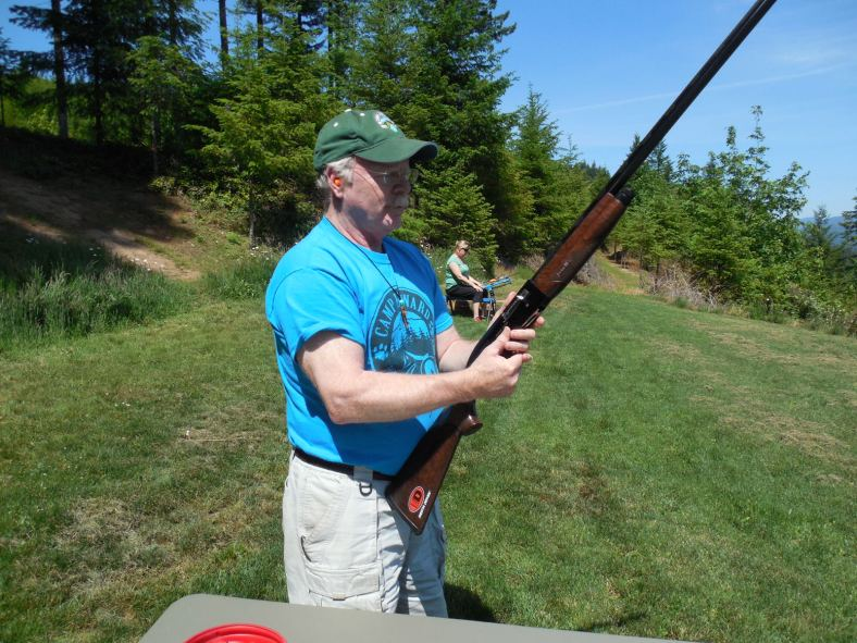 Bill Fogarty getting ready to blast some targets