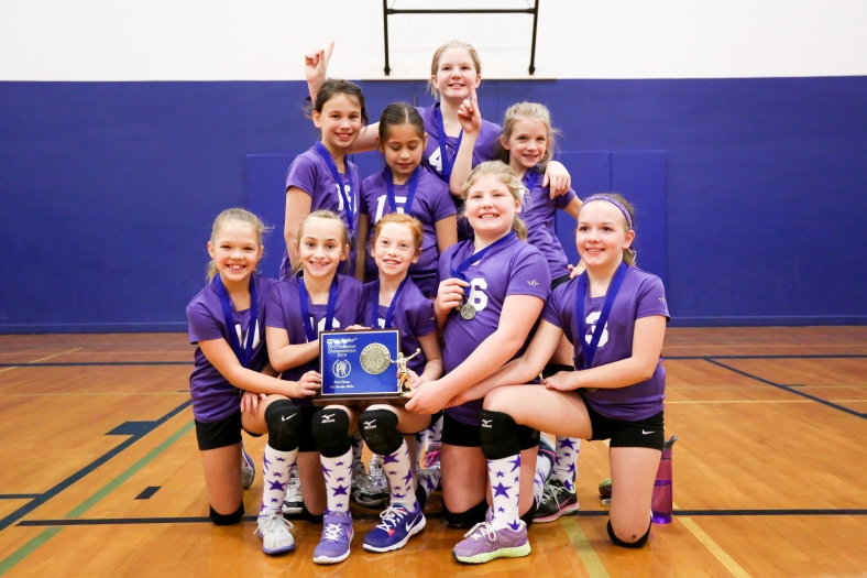 The Mighty FIGHTING DUTCH from West Washington County win the 4th Grade Girls CYO Spike Championship 2014!