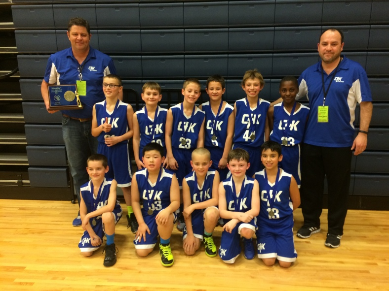 Christ the King Fourth Grade Boys win the 2015 CYO City Basketball Championship at Valley Catholic School