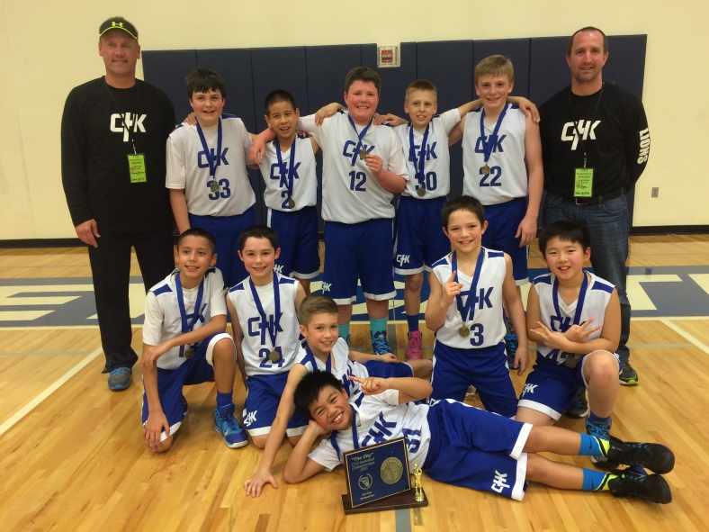 Christ the King won the 5th Grade Boys CYO City Championship March 8th at Valley Catholic High School 2015.