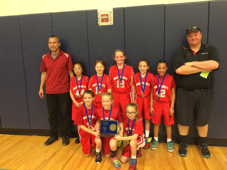 Holy Trinity Third Graders win the CYO City Basketball Championship Saturday March 7, 2015 at Valley Catholic High School
