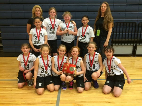The Fighting Dutch 4th Grade Girls win Second Place  CYO Basketball Championship 2015 at Valley Catholic High School