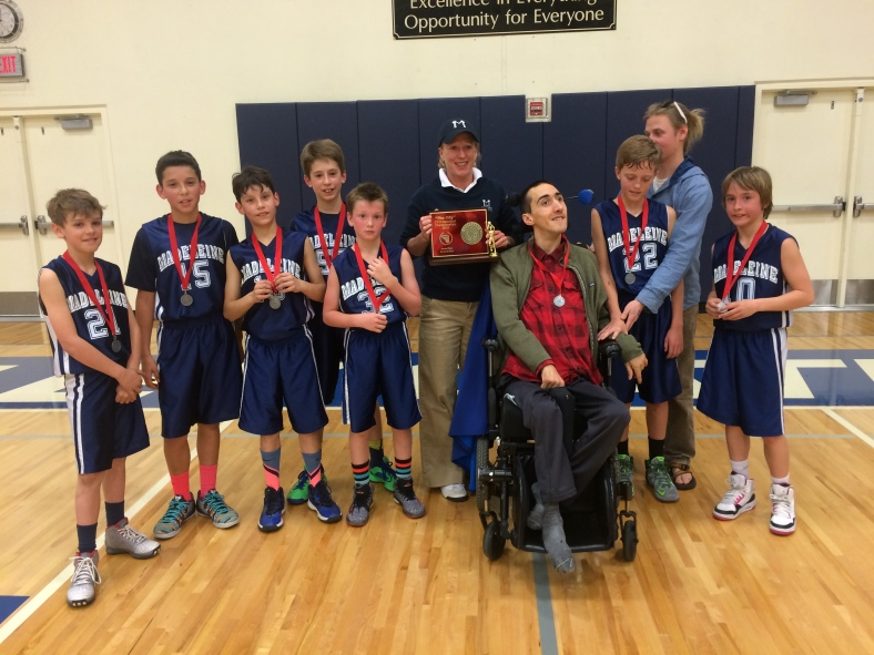 Madeleine won Second Place in the 5th Grade Boys CYO City Championship March 8th at Valley Catholic High School 2015.
