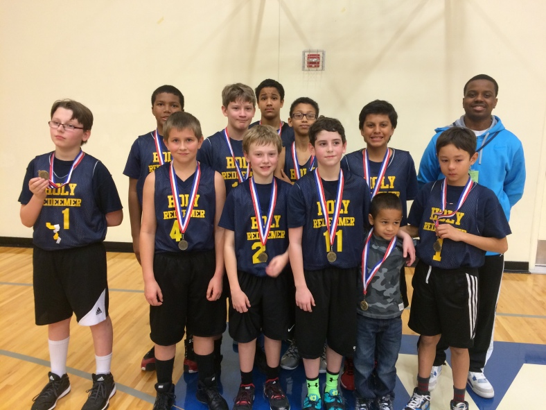 Holy Redeemer 6th grade boys win 5th in the CYO City Basketball Championship 2015 at Valley Catholic High School
