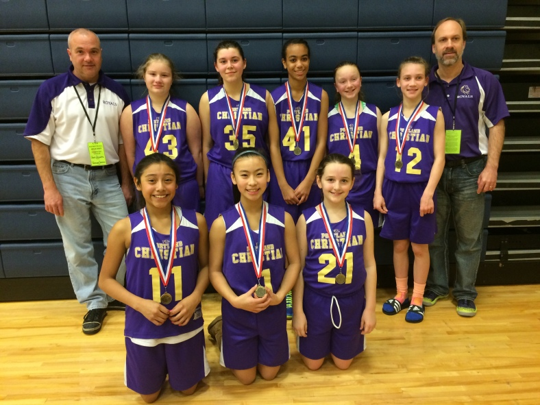 Don Stumetz and his Portland Christian Royals take fifth place in the CYO City Championships 2015.
