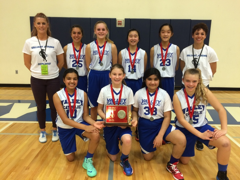 Valley Catholic takes second place in the 7th Grade Girls CYO City Championship 2015