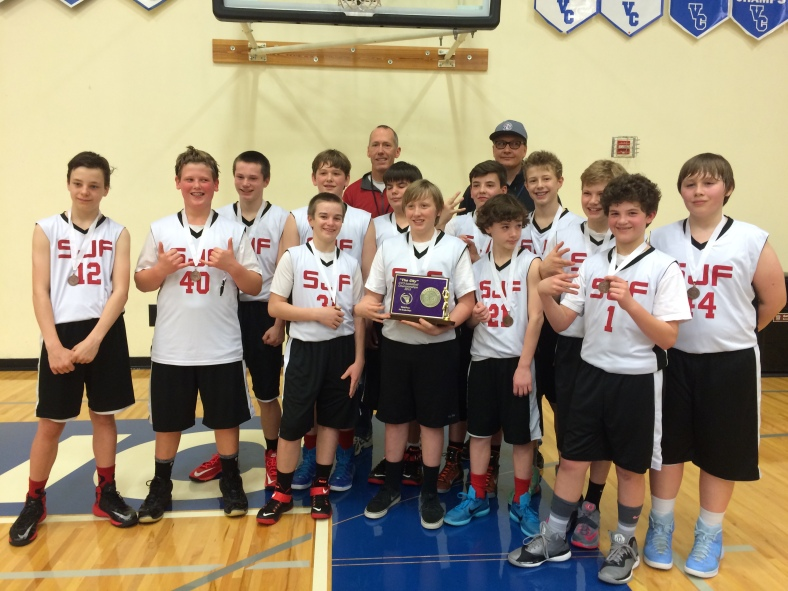 St. John Fisher wins third place in the CYO city Basketball Championship 2015