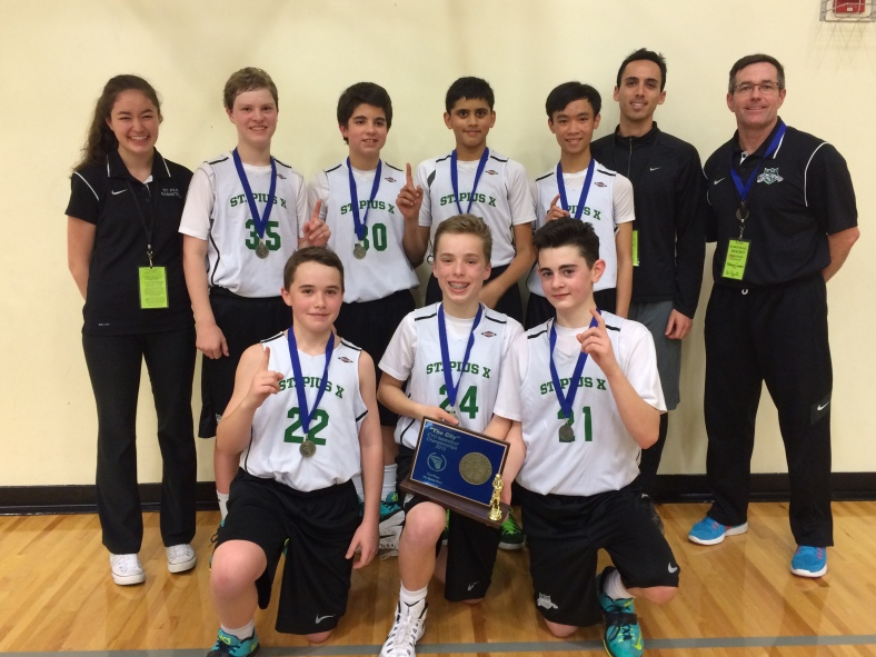 St. Pius X wins the CYO City BXB Championship for 7th Grade Boys 2015