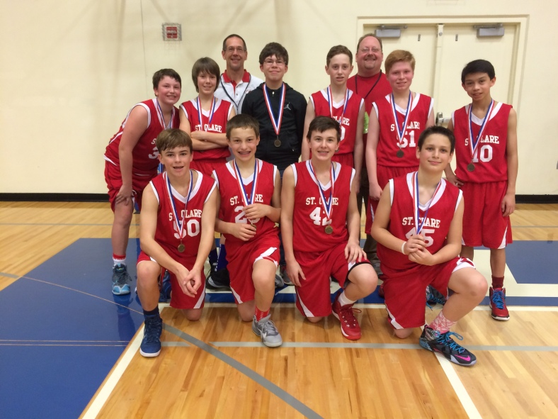St. Clare wins 5th place in the CYO City Basketball Championship 2015
