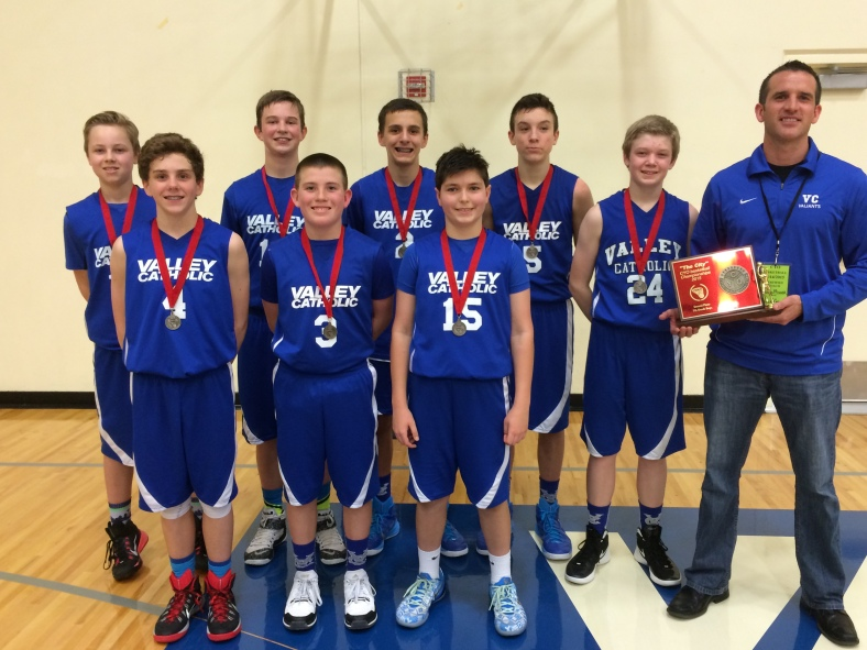 Valley Catholis wins second place in the CYO City BXB Championship for 7th Grade Boys 2015