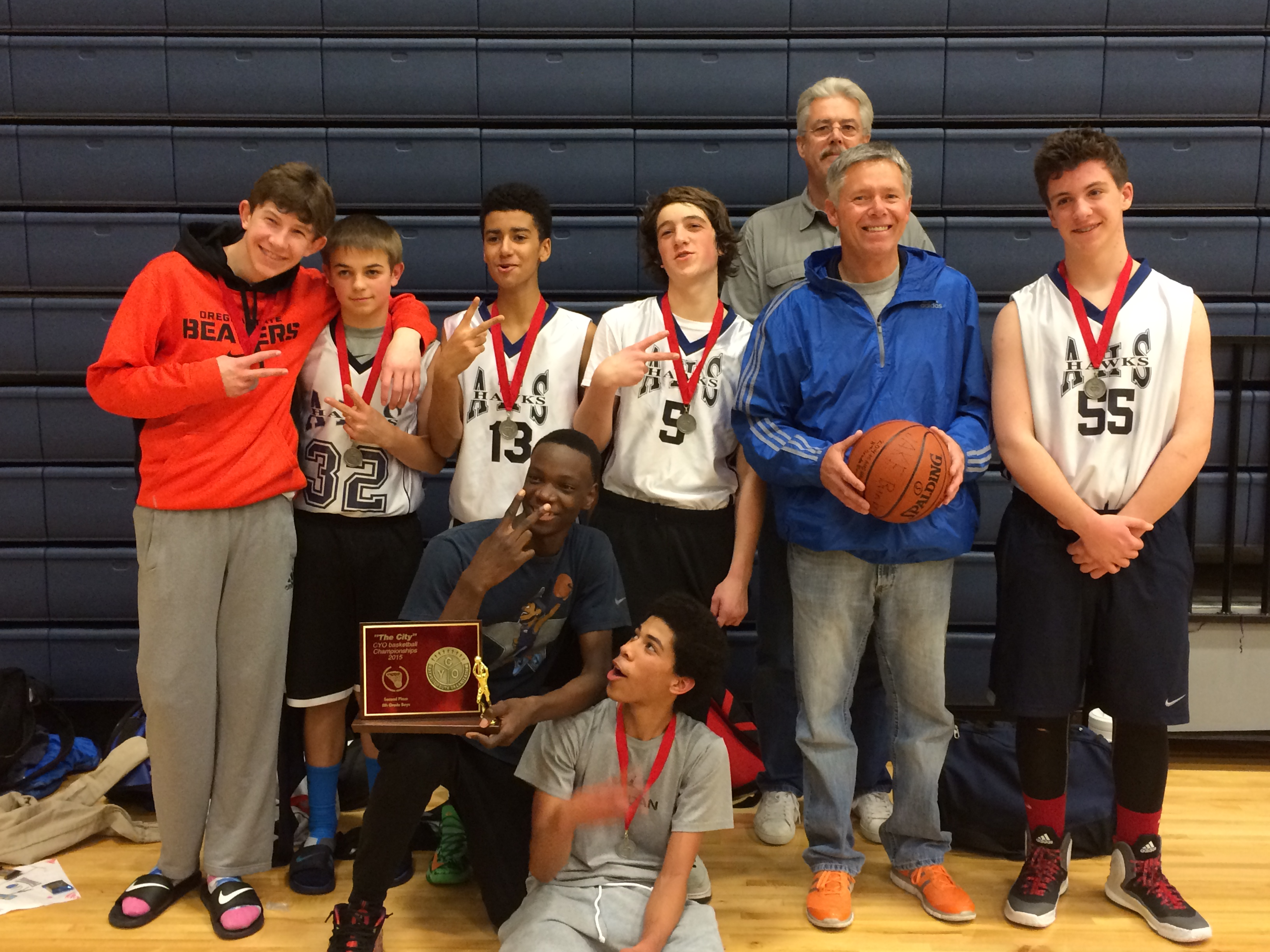 Archbishop Howard wins second place in the CYO 8th Grade Boys City Championship 2015