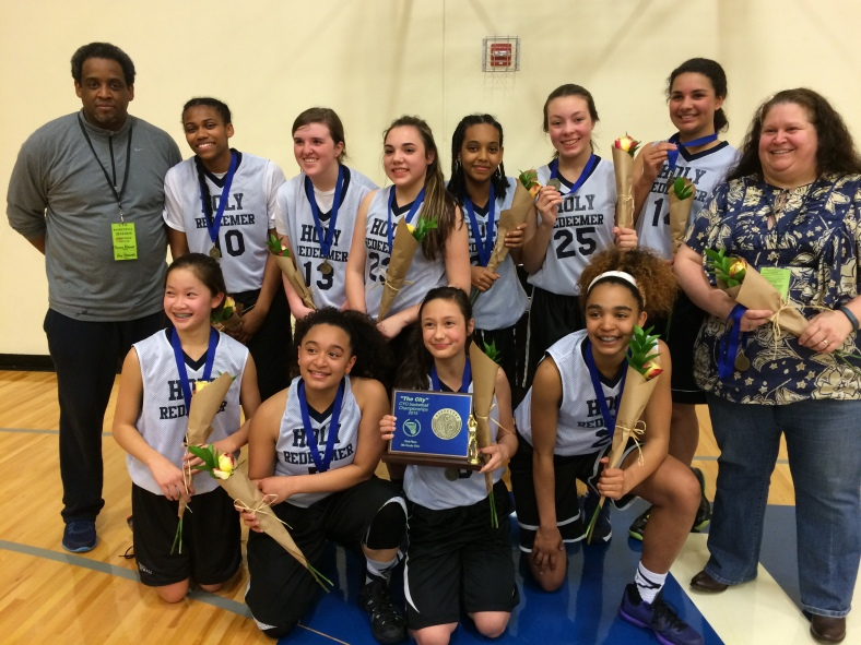 Holy Redeemer 8th Grade Girls win the CYO City BXB Championship 2015