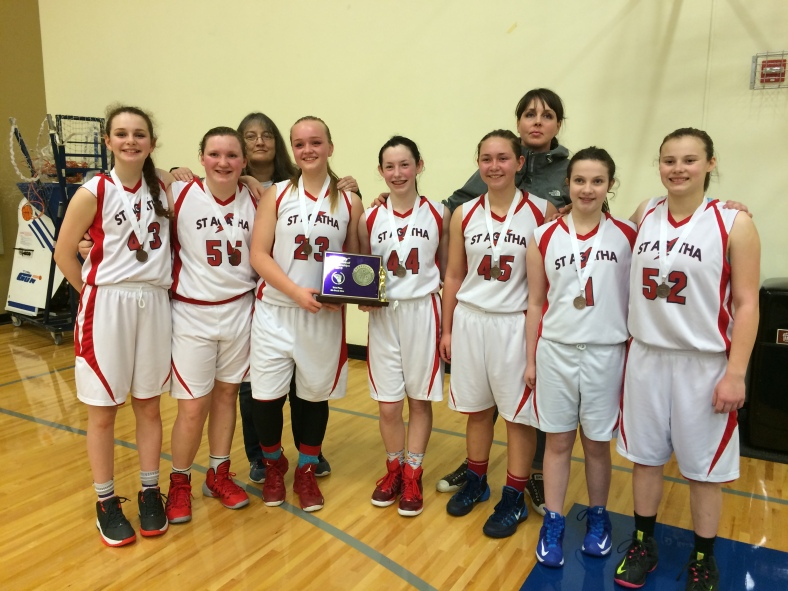 St. Agatha 8th Grade Girls win third in CYO BXB City Tournament