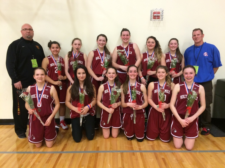 Holy Family 8th Grade Girls win fifth place in CYO City BXB Championship 2015