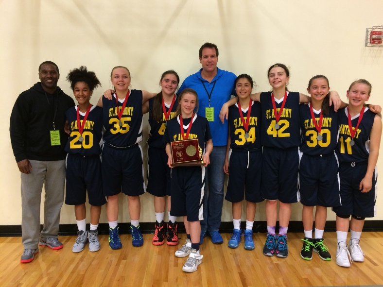 St. Anthony 7th Grade Girls win Second Place in the 8th grade division of the  CYO City BXB Championship 2015.