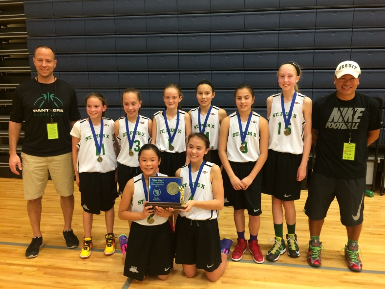 St. Pius X 5th Grade Girls win the 2015 CYO City Basketball Championship at Valley Catholic